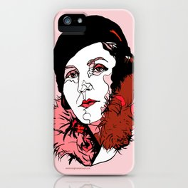Germaine Tailleferre Female Composer Les Six, Ravel Paris Piano Harp vintage 1920s flapper lady iPhone Case
