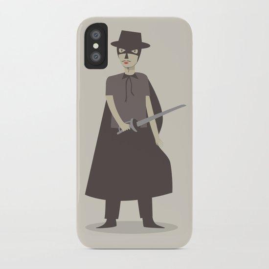 El Zorro iPhone Case