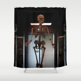 Human Skeleton at Museum Vrolik Shower Curtain
