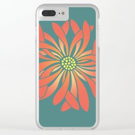 Untamed Coral Flower Clear iPhone Case