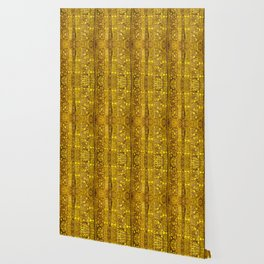 Rubino MET Silk Floral Abstract Gold Wallpaper