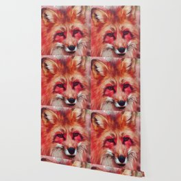 Red fox art #fox #animals Wallpaper