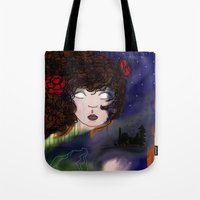 pain Tote Bags featuring Pain by Anna Ilina