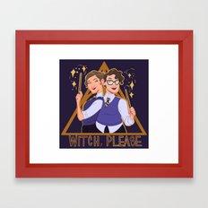 Witch, Please Logo  Framed Art Print