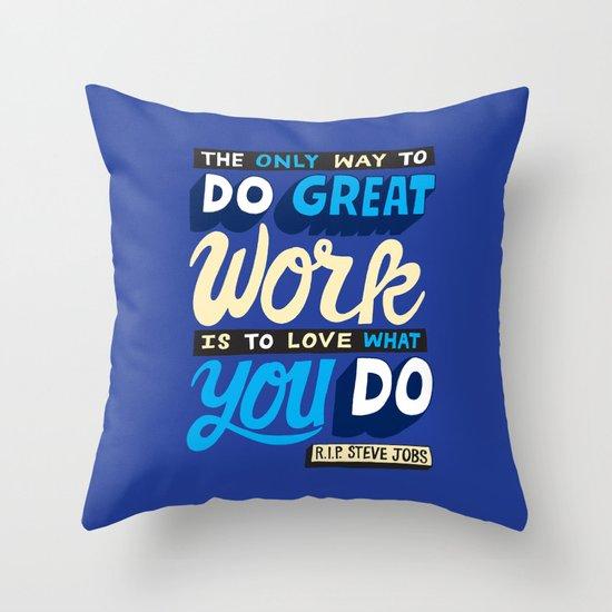 RIP Steve Jobs Throw Pillow