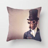 steampunk Throw Pillows featuring Steampunk by FalcaoLucas