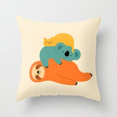 Being Lazy Throw Pillow