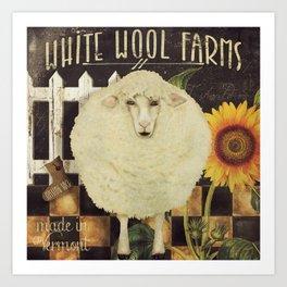 Vermont Farms Art Print