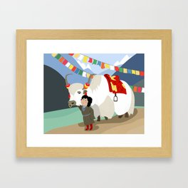 A child and his best friend Framed Art Print