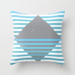 Mountain, Ocean, Sky Throw Pillow