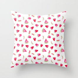 Watercolor watermelons Throw Pillow