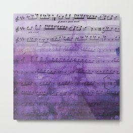 Soft Purple Music Metal Print