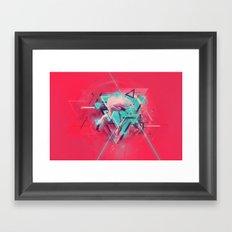 Neon Solstice Framed Art Print