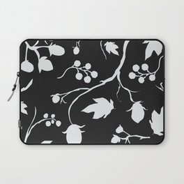 Floral Seamless Pattern. Hand Drawn Creative Sprays with berries Laptop Sleeve