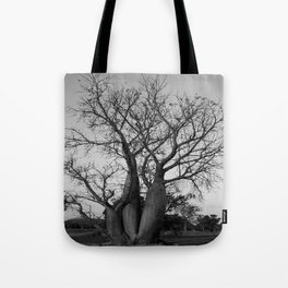 Boab Family in black and white Tote Bag