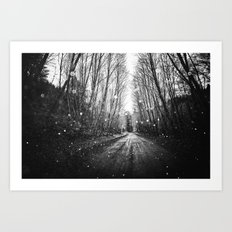 Nature Path - Follow the Fireflies Art Print