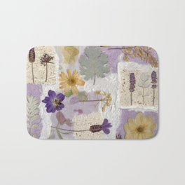 Lavender Collage Bath Mat