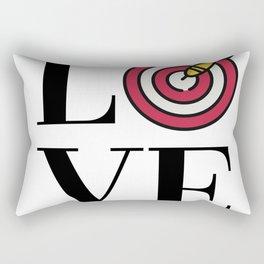 Love Darts Rectangular Pillow