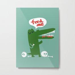 Hungry Hungry Alligator Metal Print