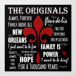 The Originals inspired art print (Black) Canvas Print