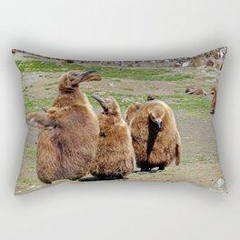 King Penguin Chicks Rectangular Pillow
