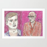"""rupaul Art Prints featuring """"Do I Have Something On My Face?"""" by Vincenzo Dama"""