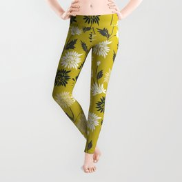 Chinoiserie pattern with flowers Leggings