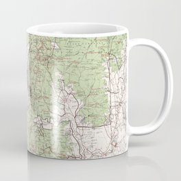 Vintage White Mountains National Forest Map (1863) Coffee Mug