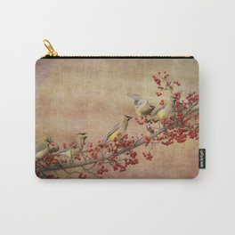 Cedar Waxwings Gathering Carry-All Pouch