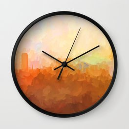 Baton Rouge, Louisiana Skyline - In the Clouds Wall Clock