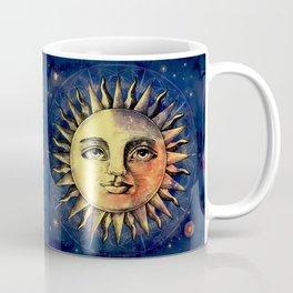 Celestial Antique Sun And Sky Watercolor Batik Coffee Mug