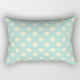 Dotted - Soft Blue Rectangular Pillow
