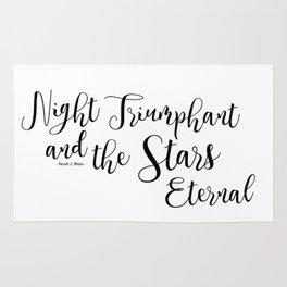 night triumphant and the stars eternal (acowar) Rug