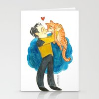 data Stationery Cards featuring Data Hug by Super Group Hugs