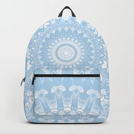 Baby Blue Boho Mandala Backpack