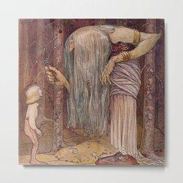 """""""The Troll Herb"""" John Bauer Watercolor Metal Print"""