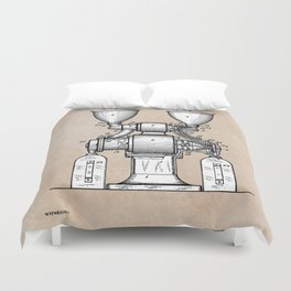 patent art Wear Combined Coffee grinder and cleaner 1911 Duvet Cover