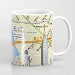 Nyc Subway Liberty Statue Coffee Mug