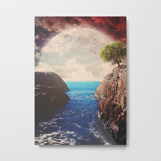 Where the moon meets the sea Metal Print