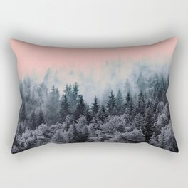 Forest in gray and pink Rectangular Pillow
