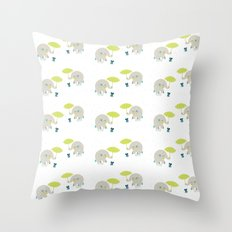 Rain Pattern Throw Pillow