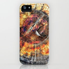 Tree Stump Ring Circle iPhone Case