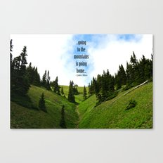 Going to the Mountains Canvas Print