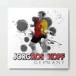 Jorg Rosskopf | Table Tennis Legend Metal Print