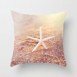 golden starfish Throw Pillow