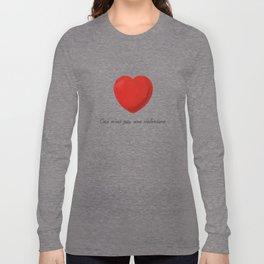 Ceci n'est pas une valentine (this is not a valentine) Long Sleeve T-shirt