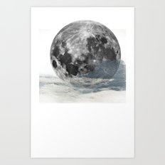 Low Moon Art Print