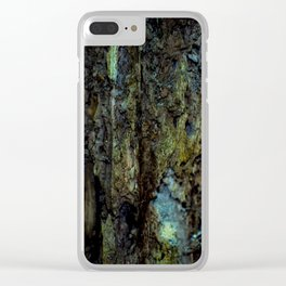 Colourful Wood Rot Clear iPhone Case