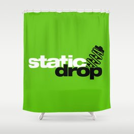 Static drop v7 HQvector Shower Curtain