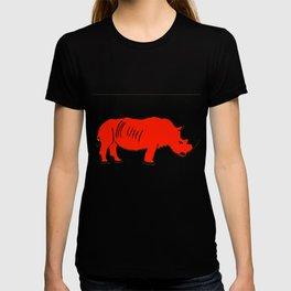 The Crimson Rhinocerous T-shirt